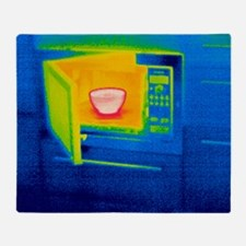 Microwave oven, thermogram Throw Blanket