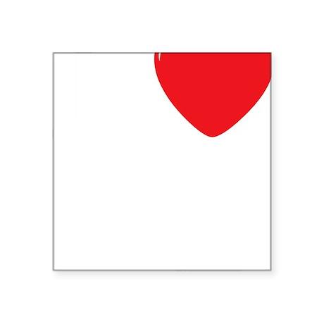 """I-Heart-Cello-03-b Square Sticker 3"""" x 3"""""""