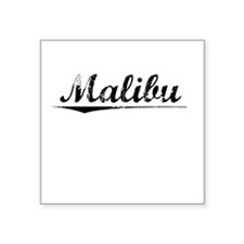 "Malibu, Vintage Square Sticker 3"" x 3"""