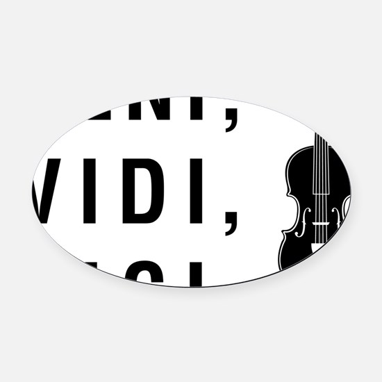 Veni-Vidi-Vici-01-a Oval Car Magnet