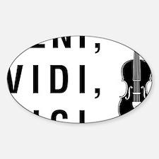 Veni-Vidi-Vici-01-a Sticker (Oval)