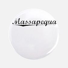 """Massapequa, Vintage 3.5"""" Button"""