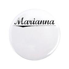 """Marianna, Vintage 3.5"""" Button"""