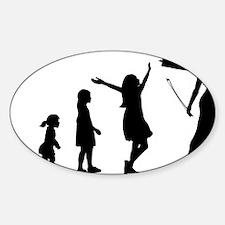 Evolution-Woman-02-a Sticker (Oval)