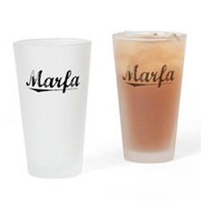 Marfa, Vintage Drinking Glass