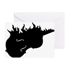 Flamed-Cello-01-a Greeting Card