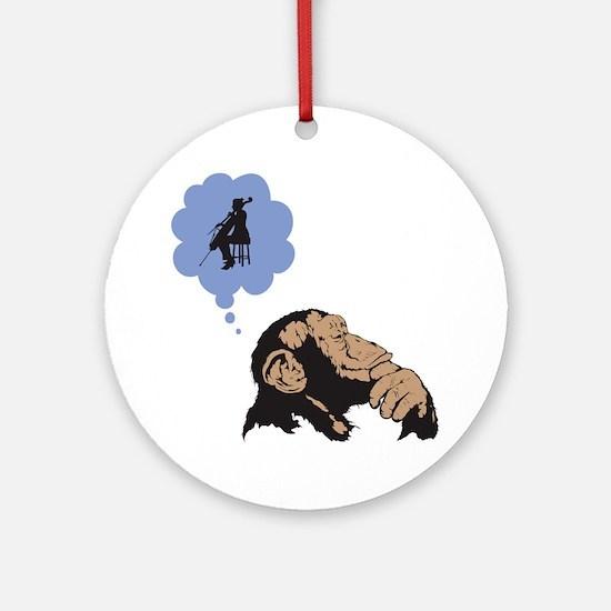 Chimp-01 Round Ornament