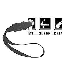 Eat-Sleep-Cello-01-a Luggage Tag
