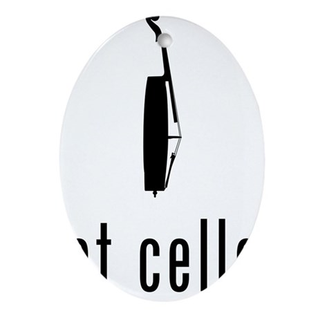 Got-Cello-01-a Oval Ornament