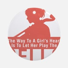 The-Way-to-A-Girls-Heart-01-a Round Ornament