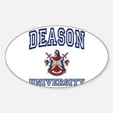 DEASON University Oval Decal