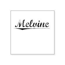 "Melvine, Vintage Square Sticker 3"" x 3"""