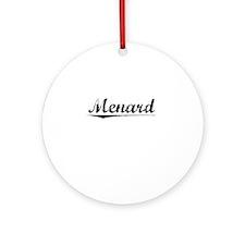 Menard, Vintage Round Ornament