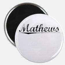 Mathews, Vintage Magnet