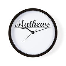 Mathews, Vintage Wall Clock