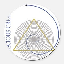 sacred geometry fibonacci Round Car Magnet