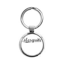 Mesquite, Vintage Round Keychain