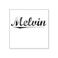 "Melvin, Vintage Square Sticker 3"" x 3"""