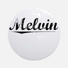 Melvin, Vintage Round Ornament