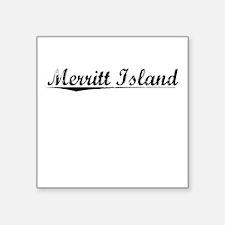 "Merritt Island, Vintage Square Sticker 3"" x 3"""