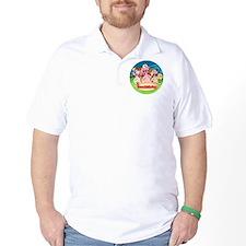 Three Little Pigs™ Button T-Shirt