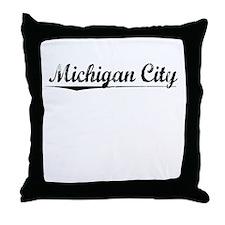 Michigan City, Vintage Throw Pillow