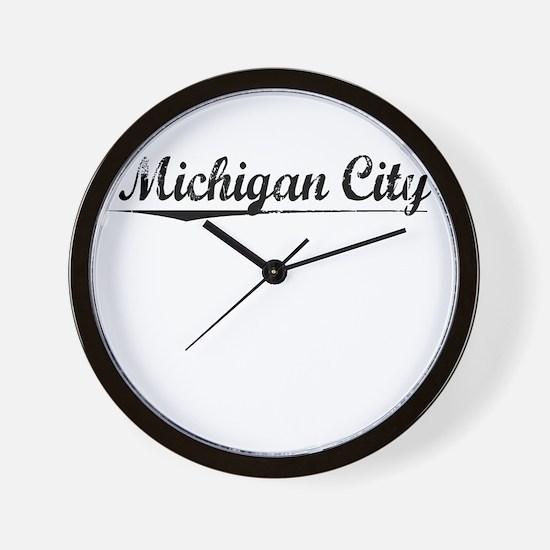 Michigan City, Vintage Wall Clock