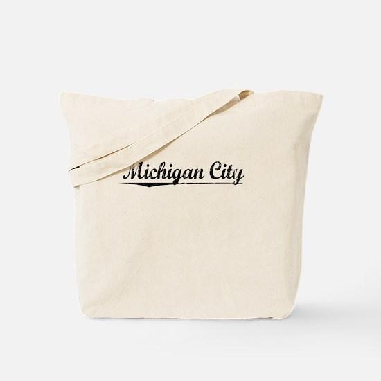 Michigan City, Vintage Tote Bag