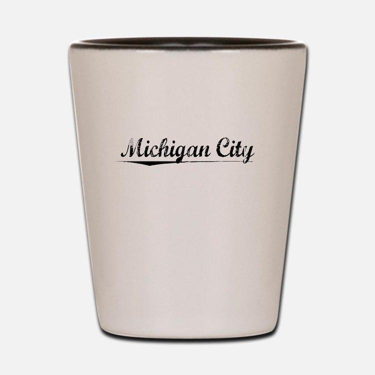 Michigan City, Vintage Shot Glass