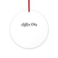 Miller City, Vintage Round Ornament