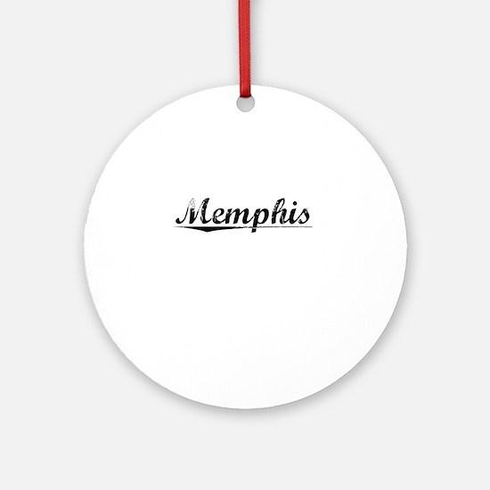 Memphis, Vintage Round Ornament