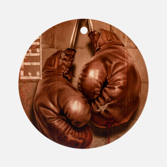 Eternal Edge-Boxing Round Ornament