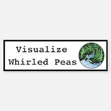 Visualize Whirled Peas Bumper Car Car Sticker