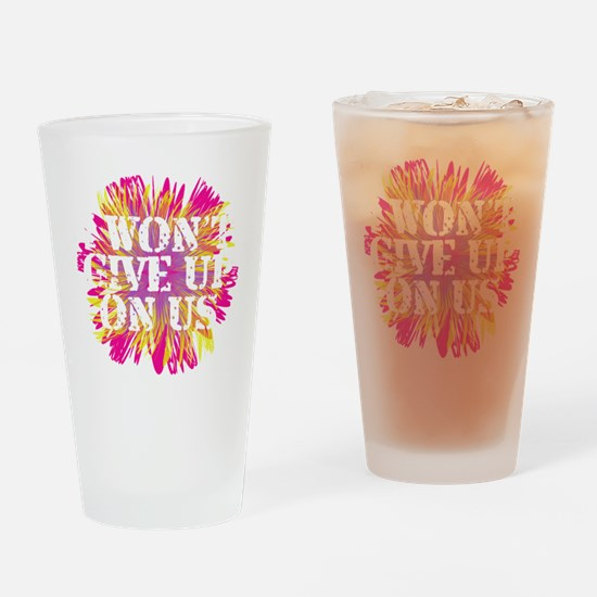 Flower I Wont Give Up WHT Drinking Glass