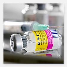 "MMR vaccine Square Car Magnet 3"" x 3"""