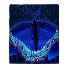 Butterfly Night r80 Throw Blanket