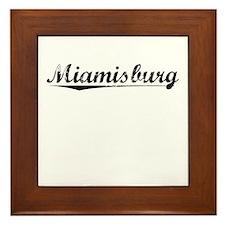 Miamisburg, Vintage Framed Tile
