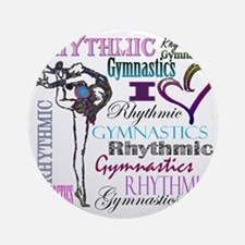I Heart Rhythmic Gymnastics Round Ornament