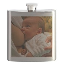 Mother breast-feeding her 3 month old baby b Flask