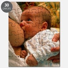 Mother breast-feeding her 3 month old baby  Puzzle
