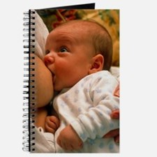 Mother breast-feeding her 3 month old baby Journal