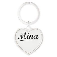Mina, Vintage Heart Keychain
