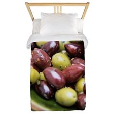 Mixed olives Twin Duvet