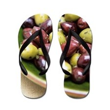 Mixed olives Flip Flops