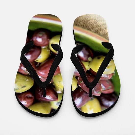 Mixed olives Flip Flops