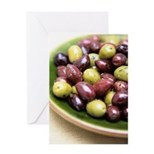 Mixed olives Greeting Card