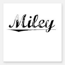 "Miley, Vintage Square Car Magnet 3"" x 3"""