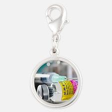 MMR vaccine Silver Round Charm