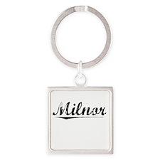 Milnor, Vintage Square Keychain