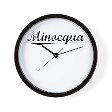 Minocqua, Vintage Wall Clock